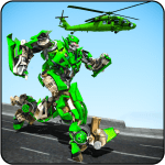 Flying Helicopter Robot Transform War Robot Hero