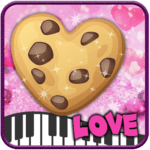 Piano Cookies Tiles Love and Heart Anime Game