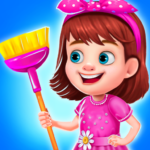 Princess Messy House Cleaning : Girls Activities